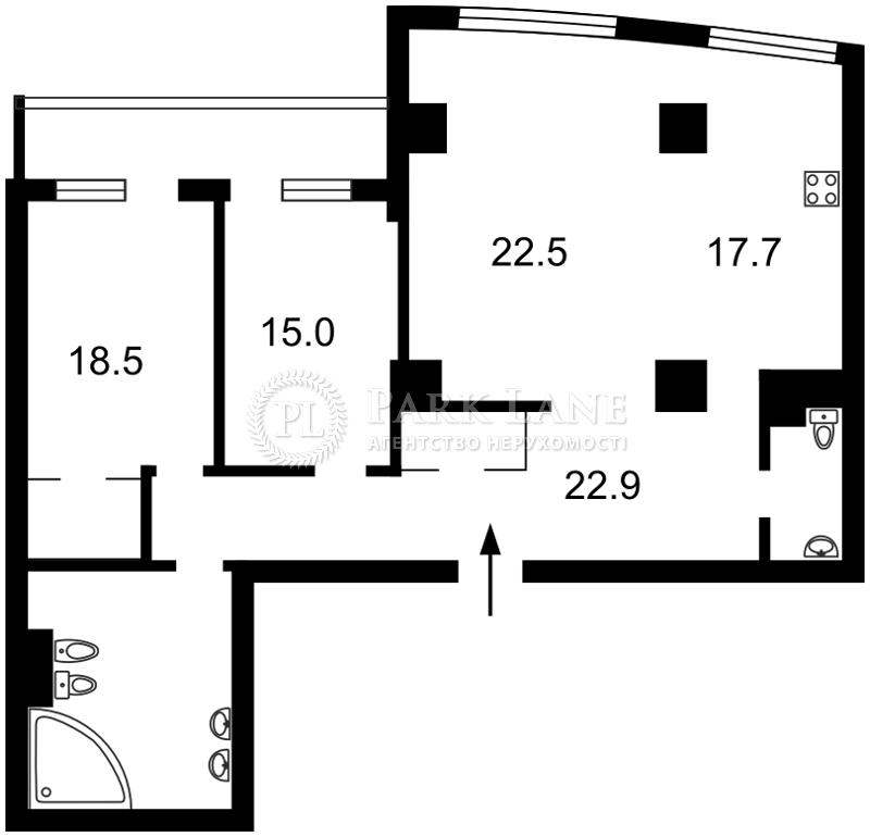 Квартира ул. Оболонская набережная, 1 корпус 1, Киев, Z-328422 - Фото 2