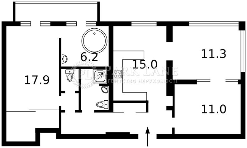 Квартира ул. Большая Васильковская, 48, Киев, I-28789 - Фото 2