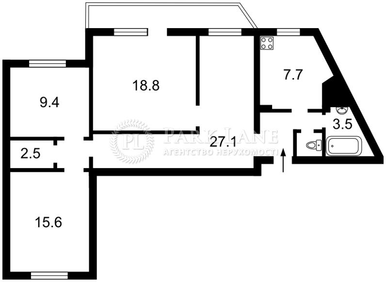 Квартира ул. Бальзака Оноре де, 4, Киев, Z-347987 - Фото 2