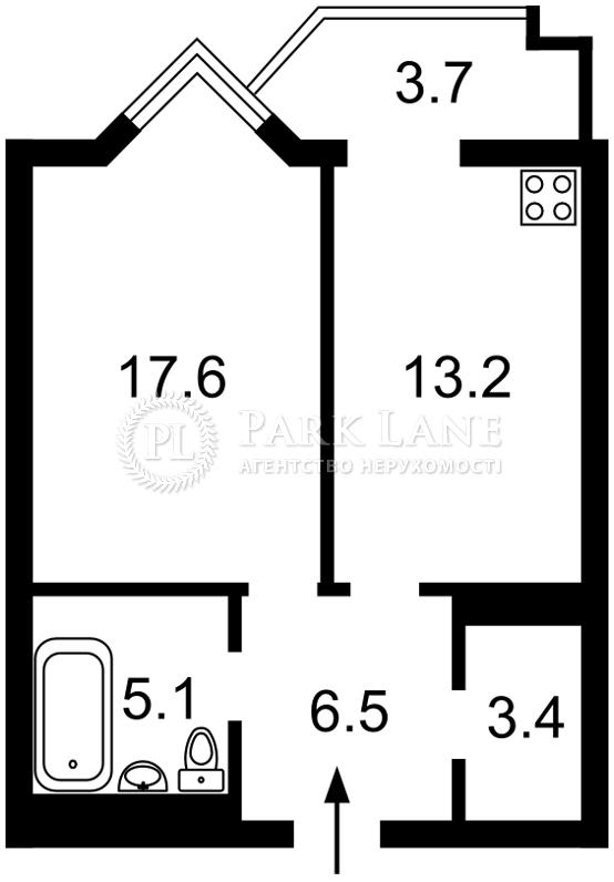 Квартира ул. Саперное Поле, 14/55, Киев, J-26020 - Фото 2