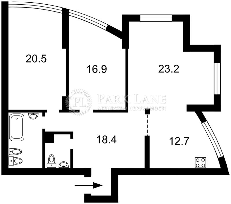 Квартира Героев Сталинграда просп., 2г корпус 2, Киев, E-20384 - Фото 2