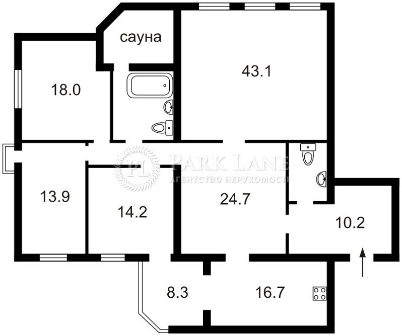 Квартира ул. Металлистов, 11а, Киев, Z-831452 - Фото 2