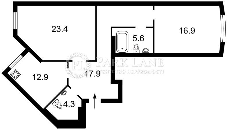 Квартира ул. Вышгородская, 45б/1, Киев, R-18358 - Фото 2
