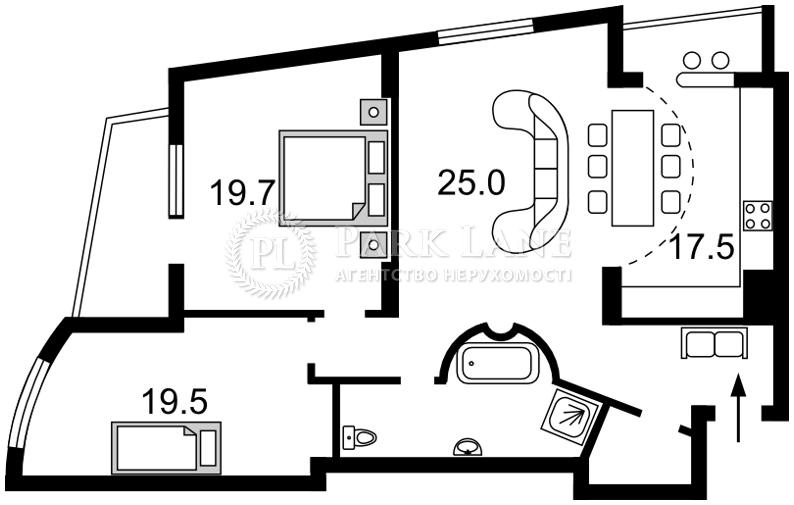 Квартира Героев Сталинграда просп., 47а, Киев, C-105371 - Фото 2