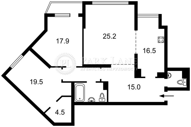 Квартира ул. Княжий Затон, 21, Киев, Z-370542 - Фото 2