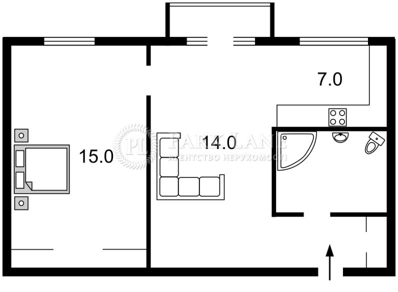 Квартира Леси Украинки бульв., 20/22, Киев, J-26363 - Фото 2