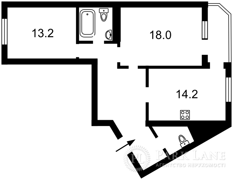 Квартира ул. Вишняковская, 13, Киев, B-97653 - Фото 2