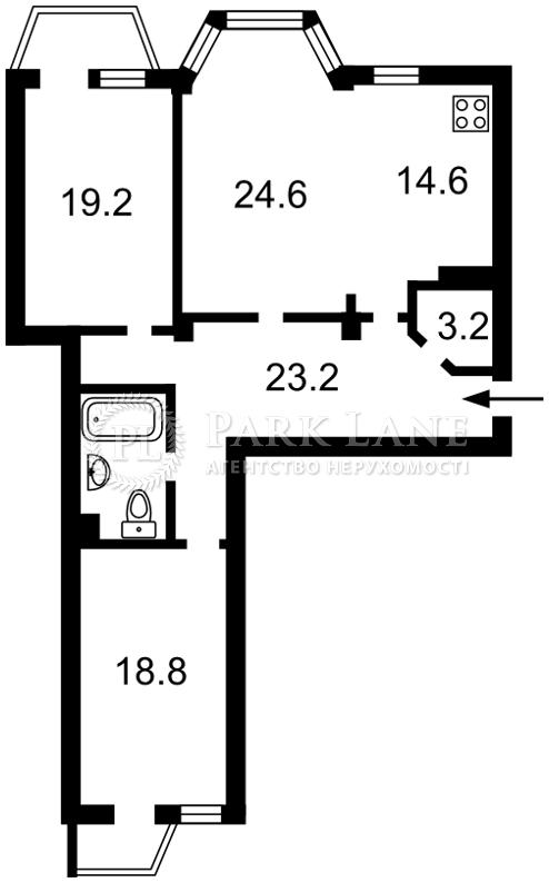 Квартира ул. Ломоносова, 73а, Киев, Z-358707 - Фото 2