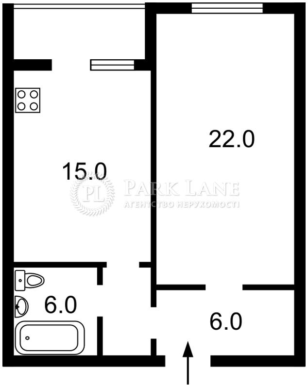 Квартира ул. Драгоманова, 1а, Киев, Z-384557 - Фото 2