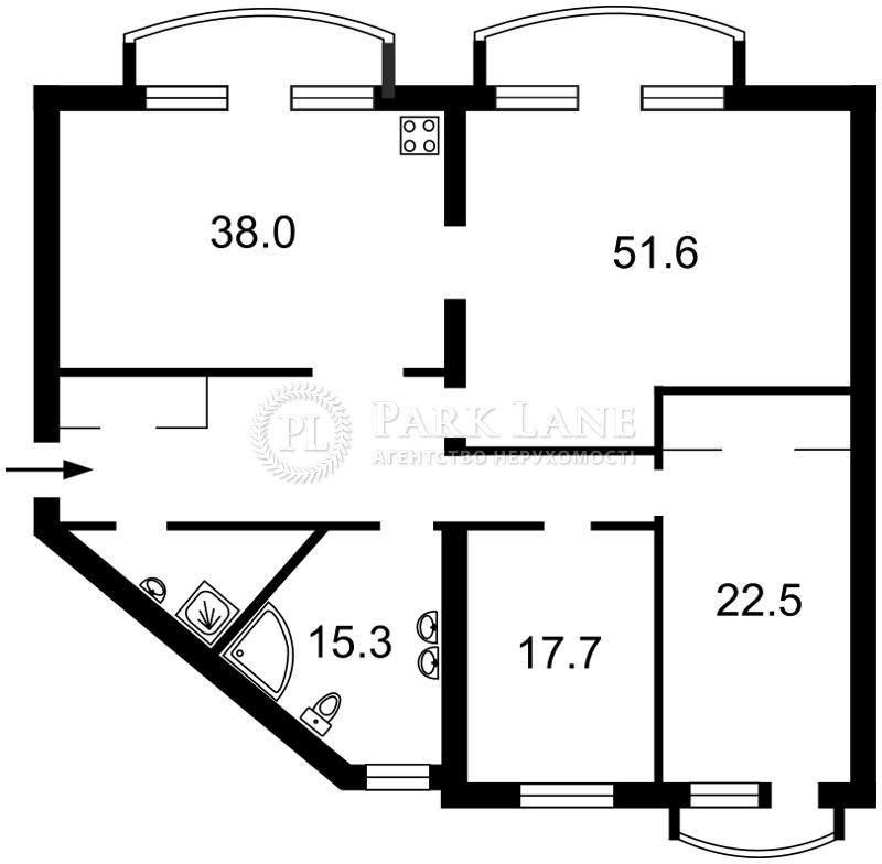 Квартира ул. Антоновича (Горького), 140, Киев, Z-370778 - Фото 2