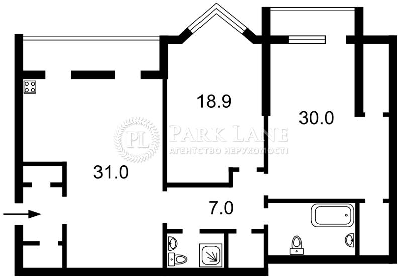 Квартира ул. Коновальца Евгения (Щорса), 32г, Киев, Z-551493 - Фото 2