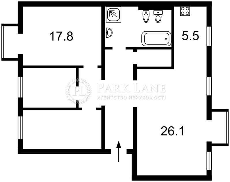 Квартира ул. Волошская, 21, Киев, C-78301 - Фото 2