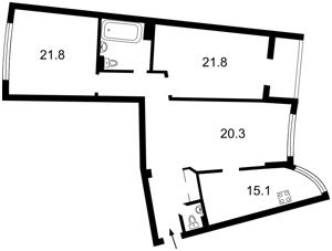 Квартира K-26971, Митрополита Андрея Шептицкого (Луначарского), 10, Киев - Фото 5