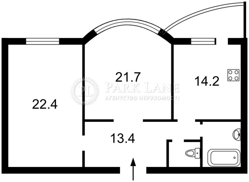 Квартира ул. Подгорная, 7/36, Киев, R-21481 - Фото 2