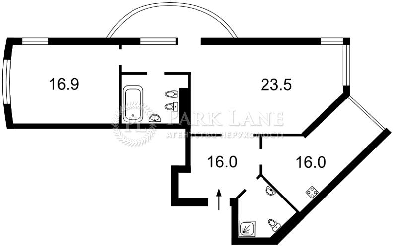 Квартира ул. Вышгородская, 45а, Киев, R-21438 - Фото 2