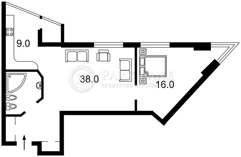 Квартира Шевченко Тараса бульв., 33б, Киев, Z-386773 - Фото 2
