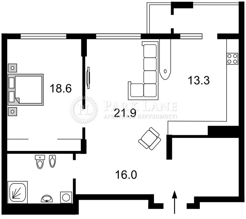 Квартира X-7219, Драгомирова Михаила, 16, Киев - Фото 6