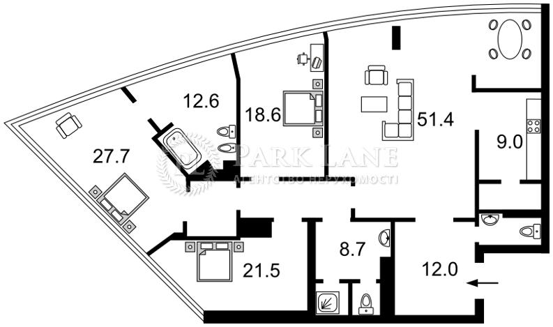 Квартира B-97970, Шевченко Тараса бульв., 30, Киев - Фото 3