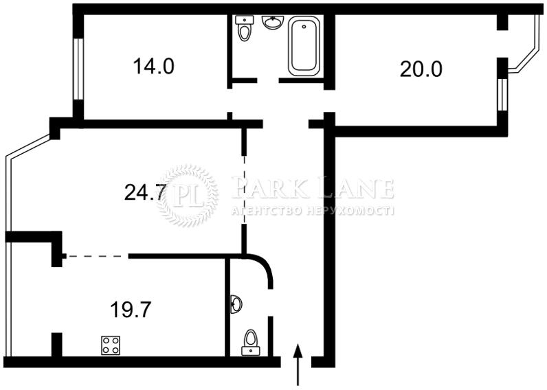 Квартира ул. Ломоносова, 58, Киев, R-22838 - Фото 2