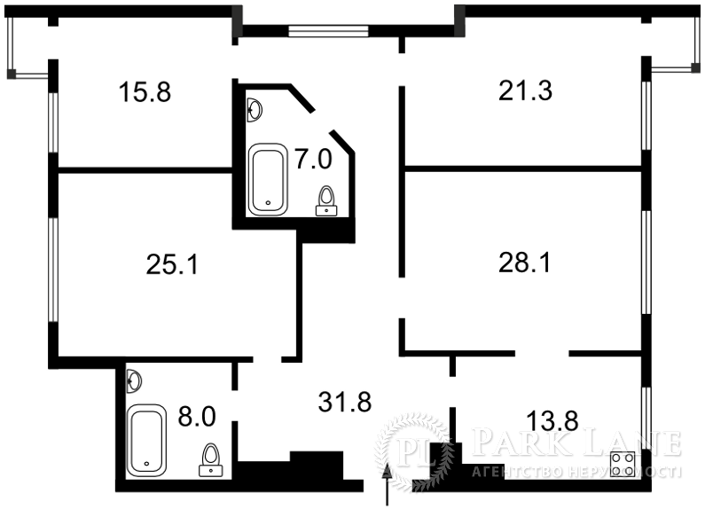 Квартира Лобановского просп. (Краснозвездный просп.), 6д, Киев, B-98142 - Фото 2