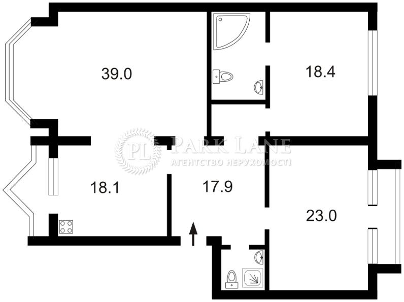 Квартира ул. Гончара Олеся, 26, Киев, Z-442132 - Фото 2