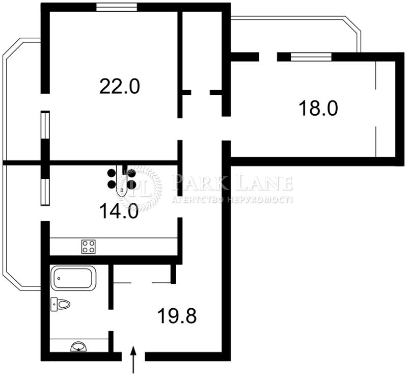 Квартира ул. Леси Украинки, 14, Счастливое, Z-261575 - Фото 2