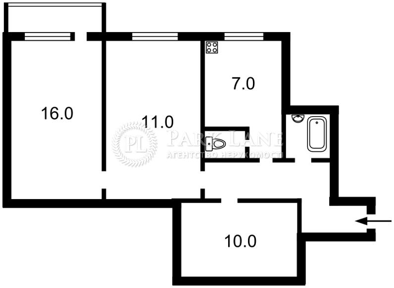 Квартира ул. Кавказская, 11, Киев, L-25901 - Фото 2