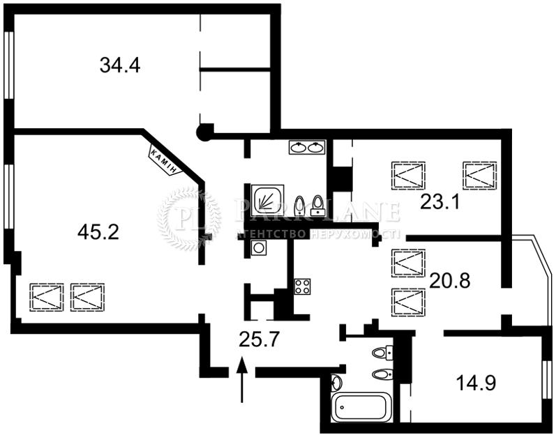 Квартира ул. Щекавицкая, 30/39, Киев, J-26902 - Фото 2