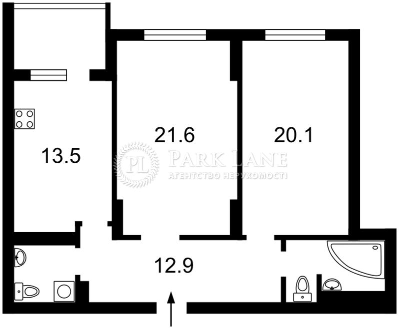 Квартира ул. Хоткевича Гната (Красногвардейская), 12, Киев, Z-367489 - Фото 2
