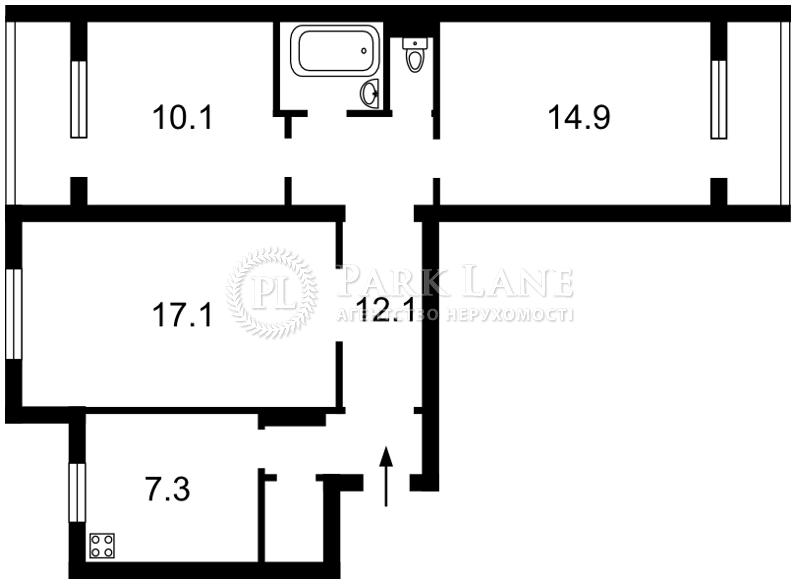 Квартира ул. Тростянецкая, 8в, Киев, Z-378422 - Фото 2