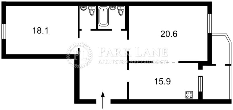 Квартира Харьковское шоссе, 58б, Киев, R-17823 - Фото 2