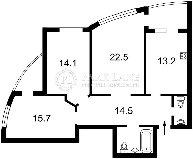 Квартира Верховного Совета бульв., 14б, Киев, I-29543 - Фото 2