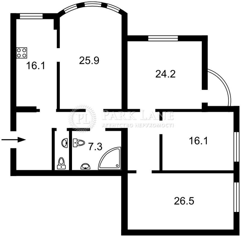Квартира ул. Ереванская, 18а, Киев, N-20579 - Фото 2