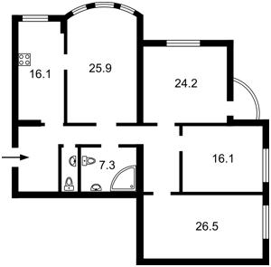 Квартира N-20579, Ереванская, 18а, Киев - Фото 3