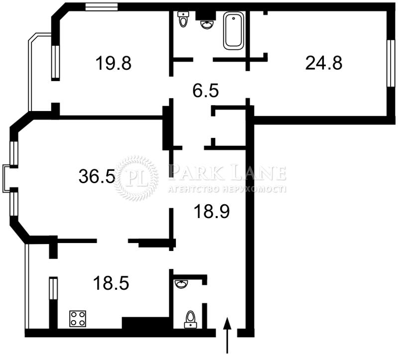 Квартира ул. Коновальца Евгения (Щорса), 32г, Киев, Z-501661 - Фото 2