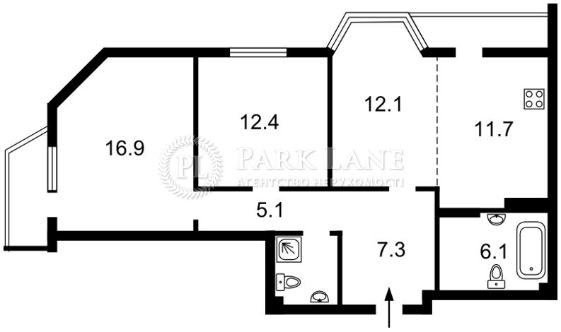 Квартира ул. Липкивского Василия (Урицкого), 37б, Киев, L-26041 - Фото 2