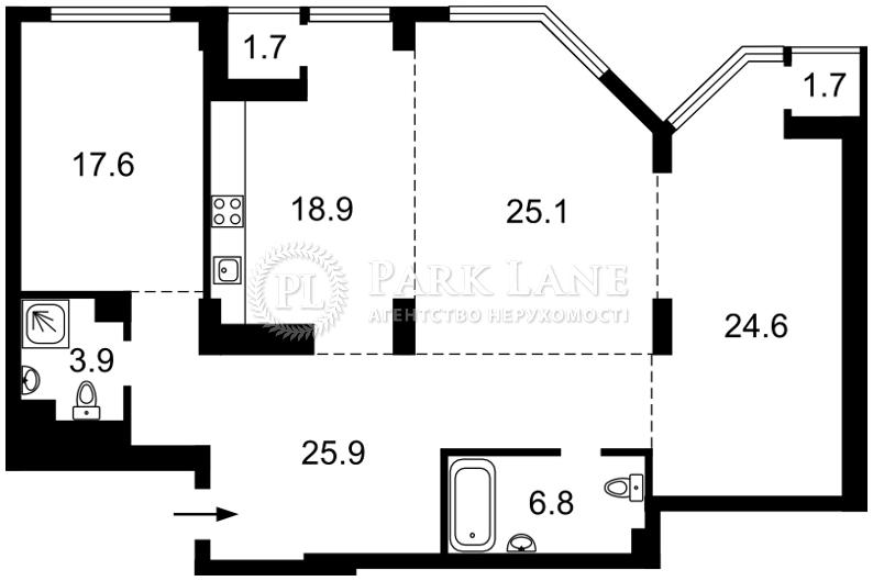 Квартира ул. Болсуновская (Струтинского Сергея), 2, Киев, C-106183 - Фото 2