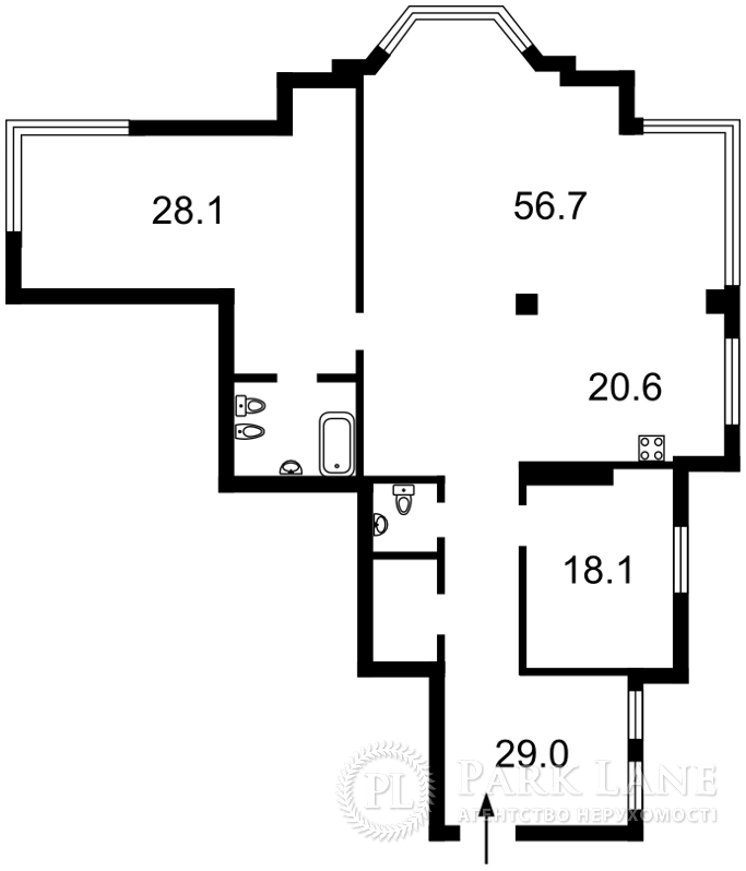 Квартира ул. Грушевского Михаила, 9а, Киев, I-29640 - Фото 2