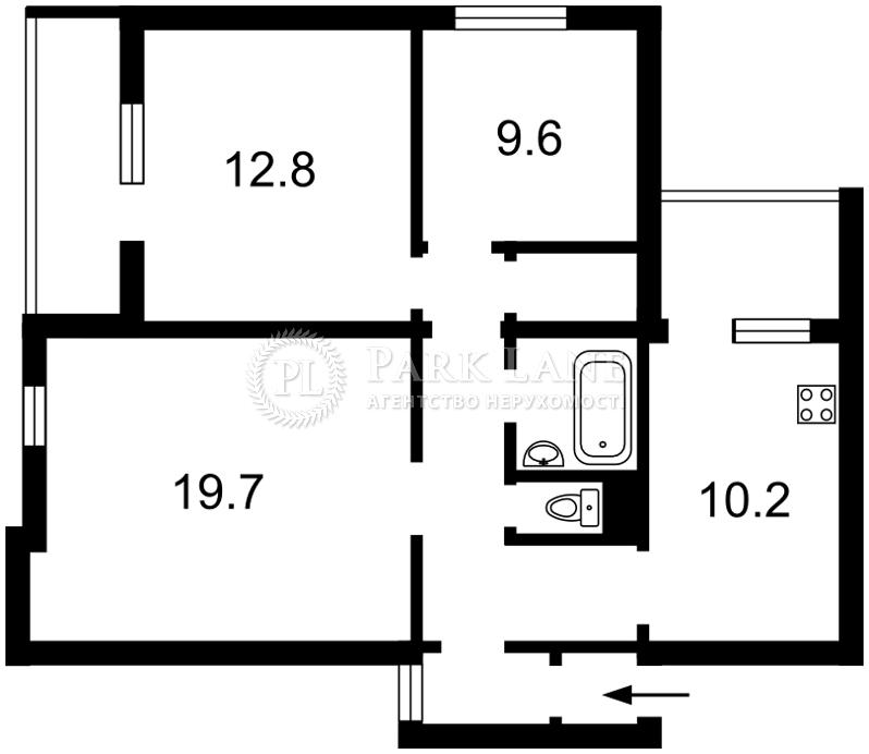 Квартира ул. Антоновича (Горького), 103а, Киев, Z-736535 - Фото 2