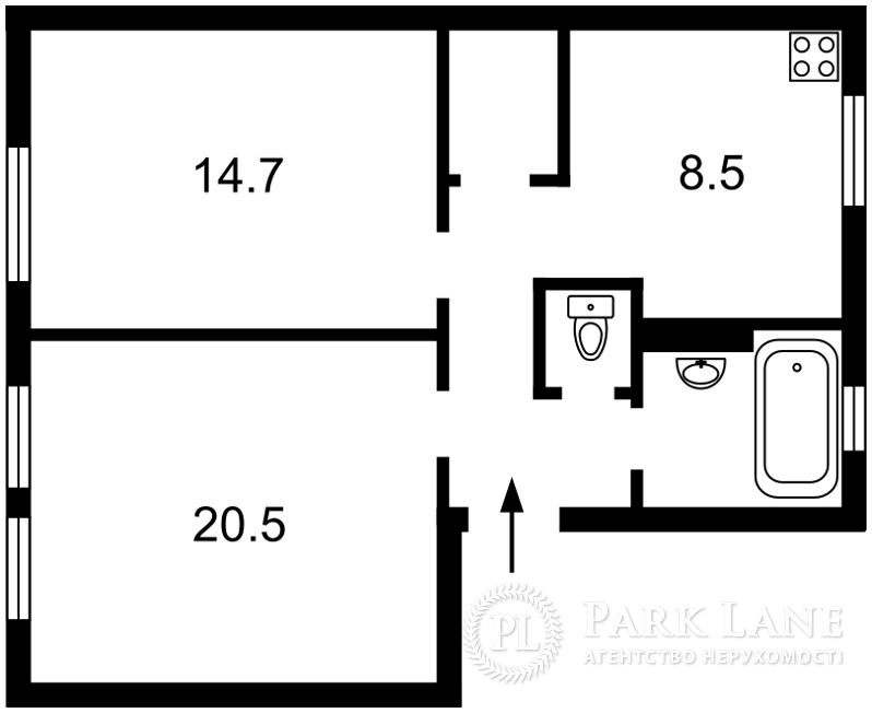 Квартира вул. Винниченка Володимира (Коцюбинського Юрія), 20, Київ, B-76655 - Фото 2