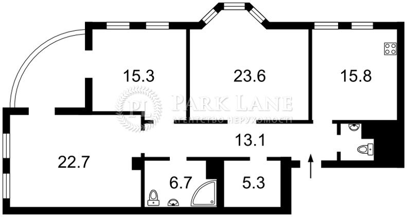 Квартира ул. Почайнинская, 25/49, Киев, K-23558 - Фото 2