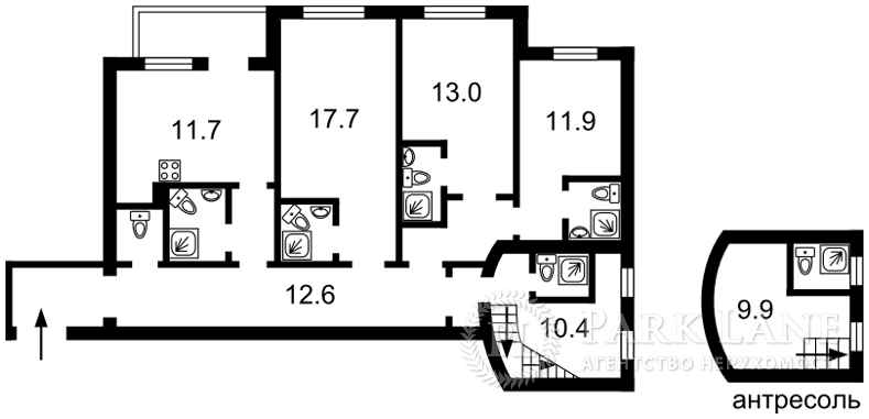 Квартира N-20704, Січових Стрільців (Артема), 10, Київ - Фото 3