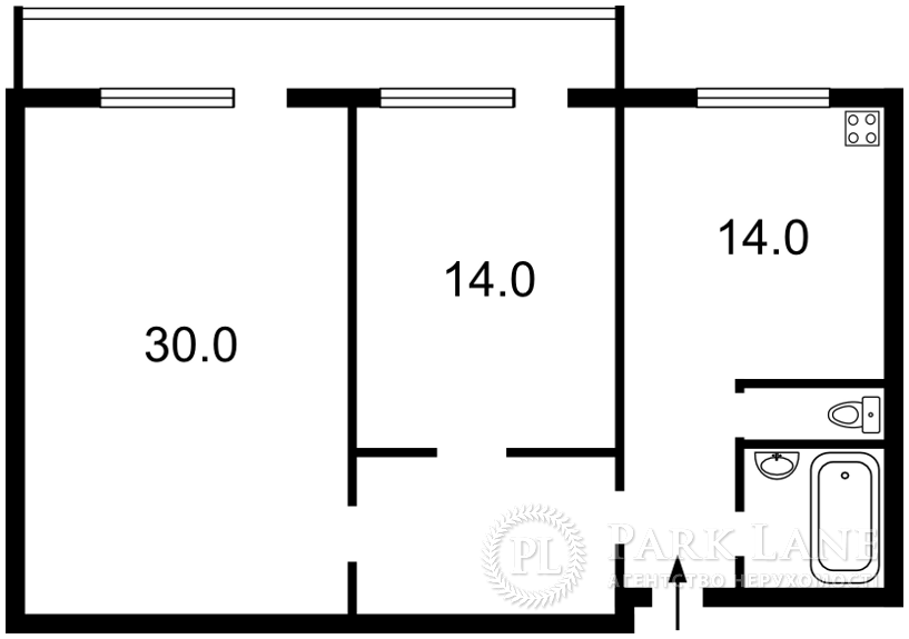 Квартира ул. Бальзака Оноре де, 6, Киев, Z-466444 - Фото 2