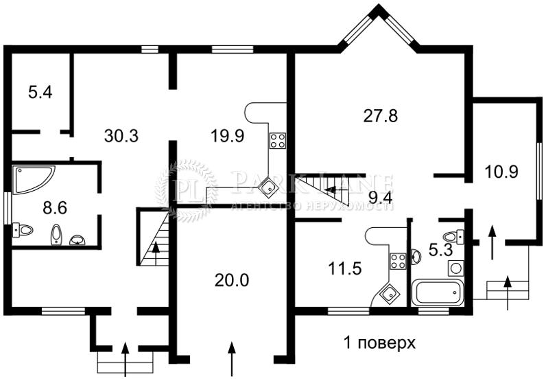 Дом ул. Толстого, Ирпень, Z-519087 - Фото 2