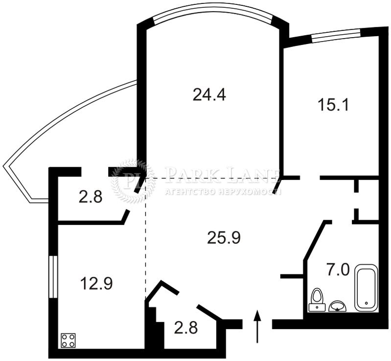 Квартира Героев Сталинграда просп., 12е, Киев, C-65018 - Фото 2