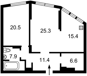 Квартира Z-371922, Коломыйский пер., 17/31а, Киев - Фото 6