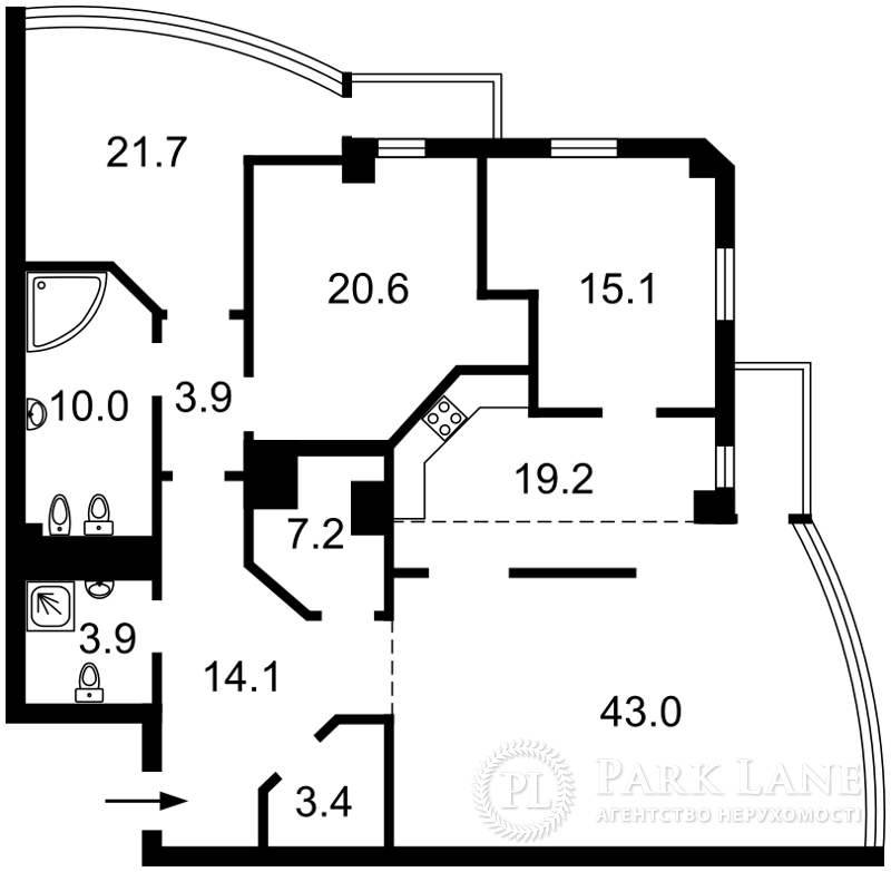 Квартира ул. Хмельницкого Богдана, 41, Киев, C-77006 - Фото 2
