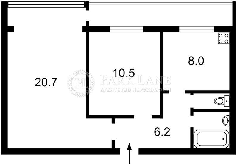 Квартира ул. Коновальца Евгения (Щорса), 37, Киев, Z-521712 - Фото 2