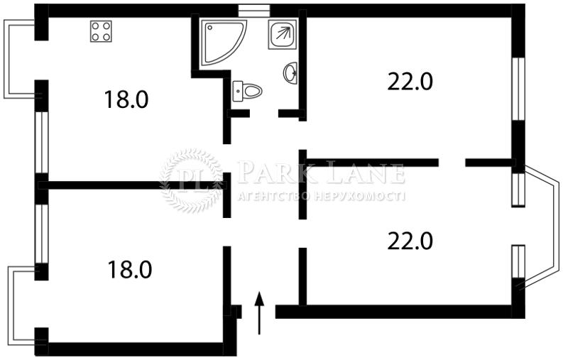 Квартира вул. Дарвіна, 10, Київ, C-89573 - Фото 2
