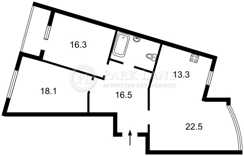 Квартира ул. Сикорского Игоря (Танковая), 1, Киев, Z-524939 - Фото 2